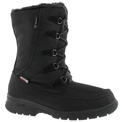 Lds Brooklyn blk laceup wtpf winter boot