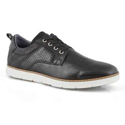 Mns Bruce black lace up casual sneaker