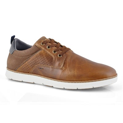 Mns Bruce cognac lace up casual sneaker