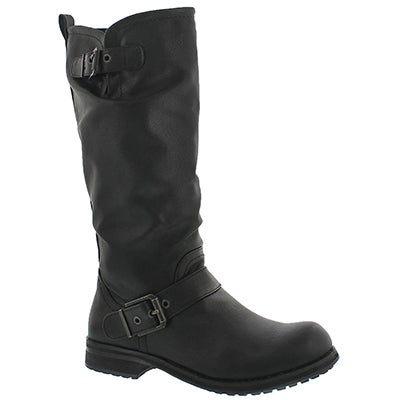 SoftMoc Women's BRYCE  black casual riding boots