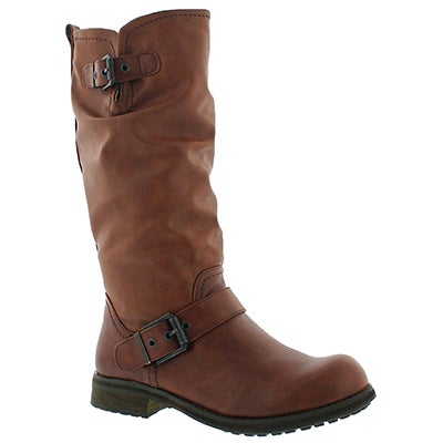 SoftMoc Women's BRYCE brown casual riding boots