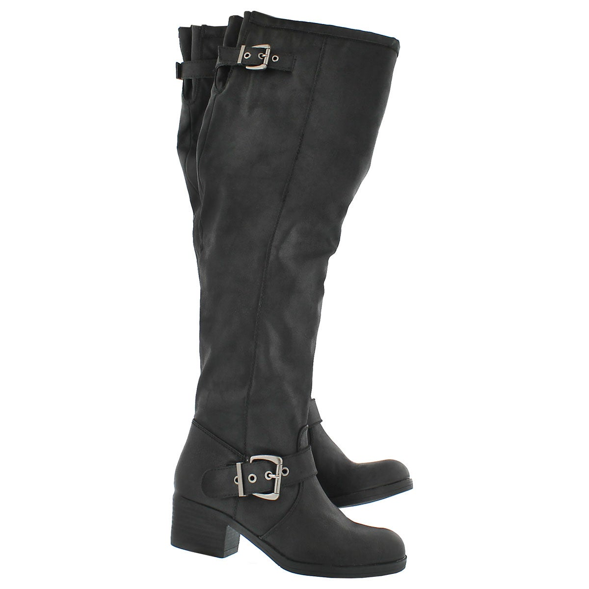 Lds Brylie black tall zip up boot