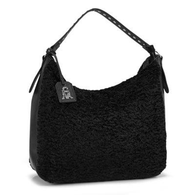 Lds BSonia black large hobo bag