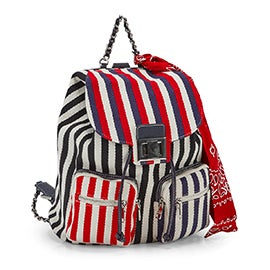 Lds BTito navy stripe fashion backpack