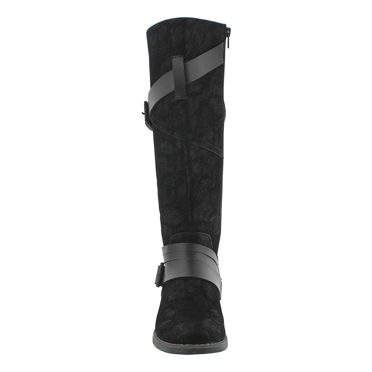 Lds Buffy black buckle riding boot