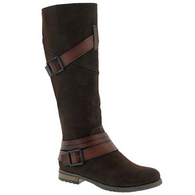 SoftMoc Women's BUFFY brown buckle riding boots