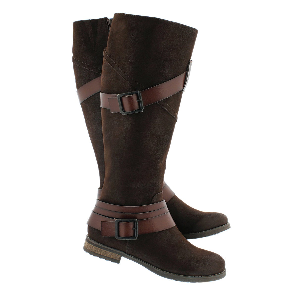 Lds Buffy brown buckle riding boot