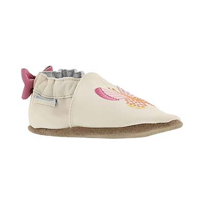 Robeez Infants' BUTTERFLY KISSES cream soft slippers