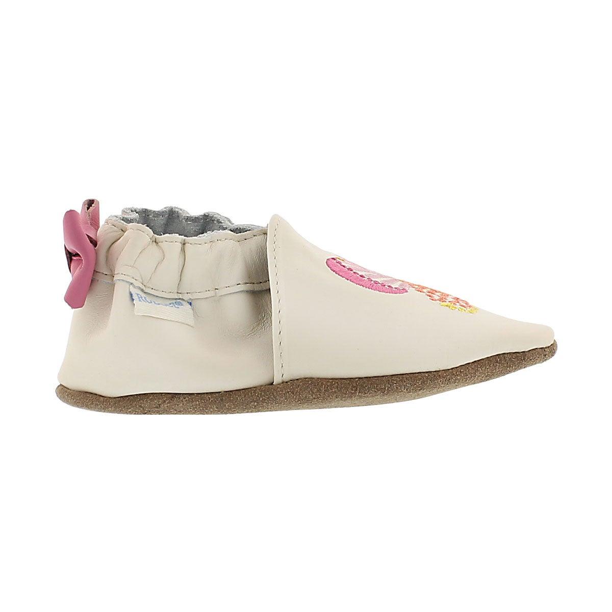 Inf Butterfly Kisses cream soft slipper