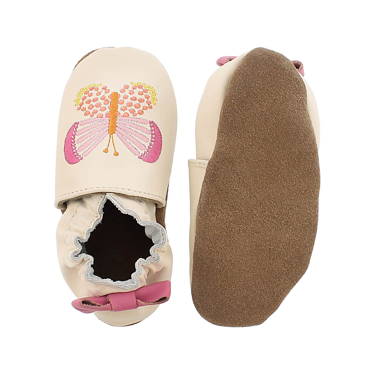 Inf Butterfly Kisses cream soft slipper
