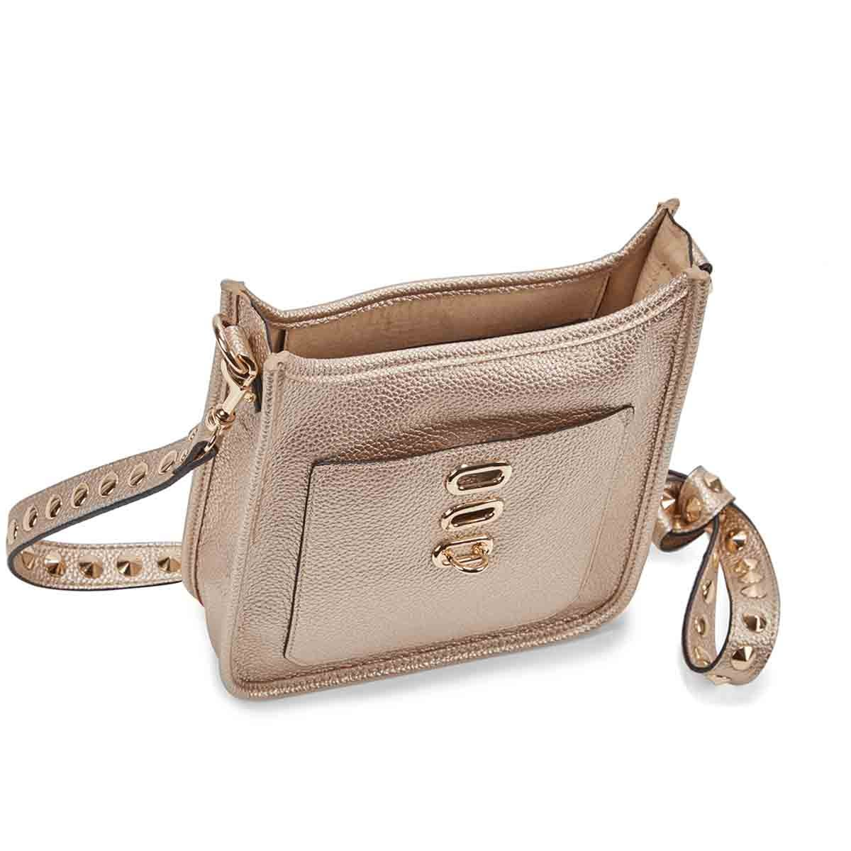 Lds BWylie gold small cross body bag
