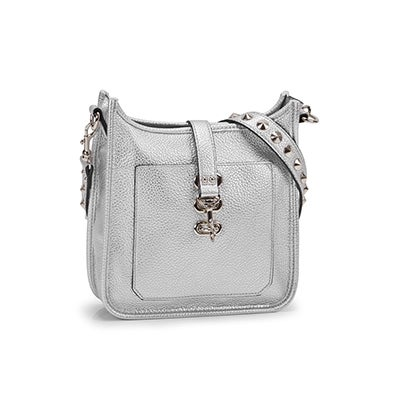 Lds BWylie silver small cross body bag