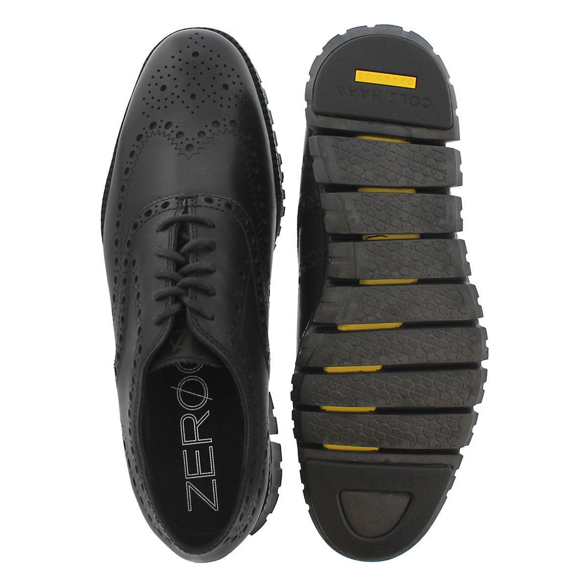 Mns Zerogrand Wing black dress oxford