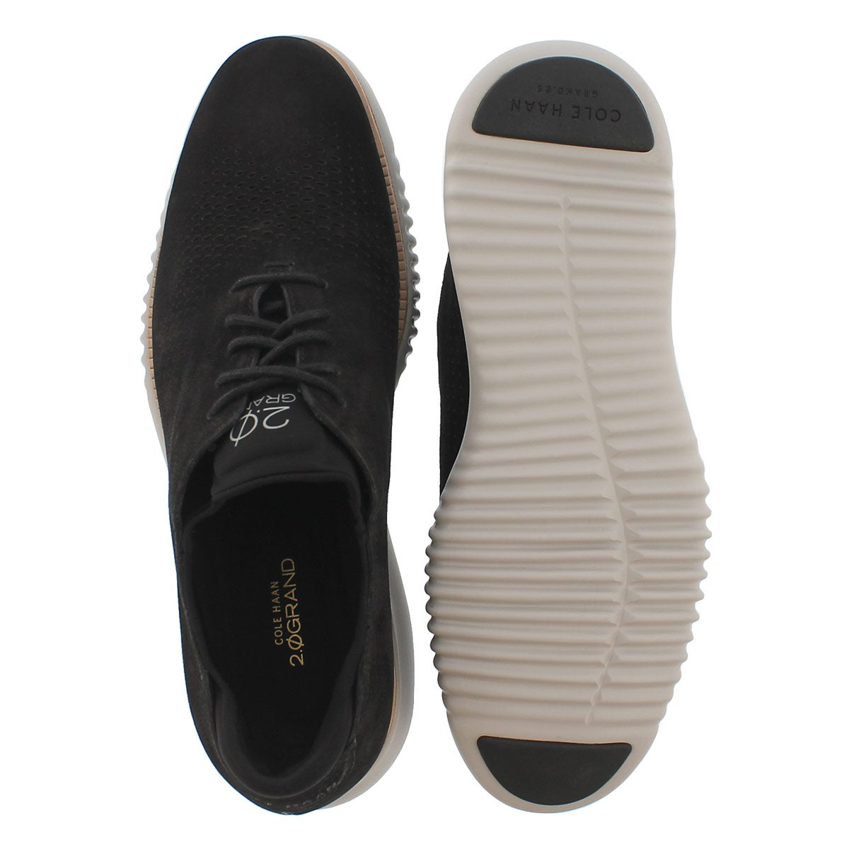 Mns Grand Laser Wing bk/gy casual oxford