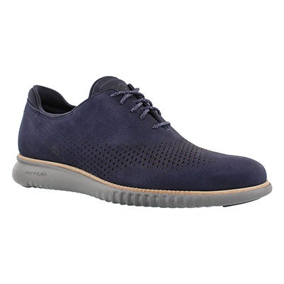 Cole Haan Men's GRAND LASER WING blue casual oxfords