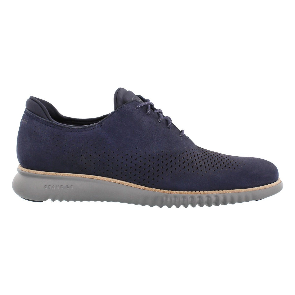 Mns Grand Laser Wing blue casual oxford