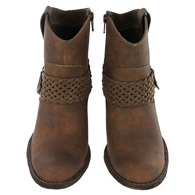 Born Women's ADALEE brown short cowboy boots