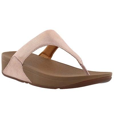 Lds Shimmy rose gold thong sandal