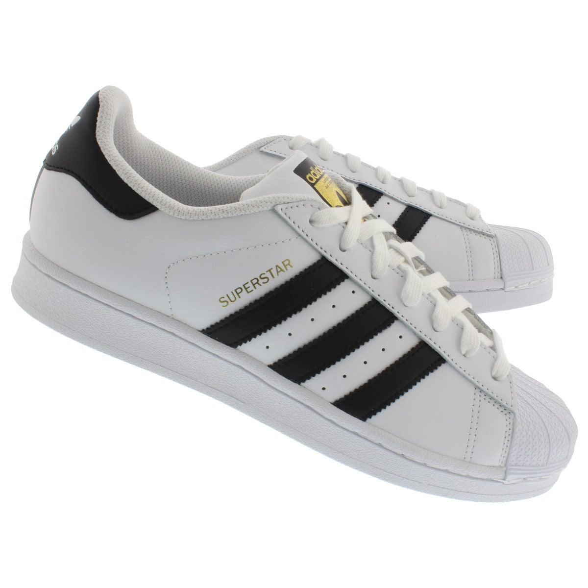 Mns Superstar wht/blk fashion sneaker