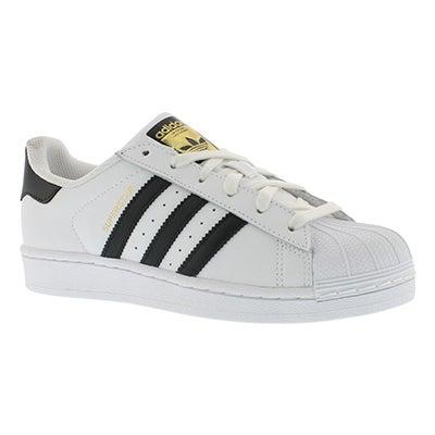Lds Superstar wht/blk fashion sneaker