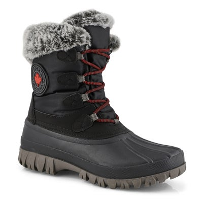 Lds Cabot blk waterproof winter boot