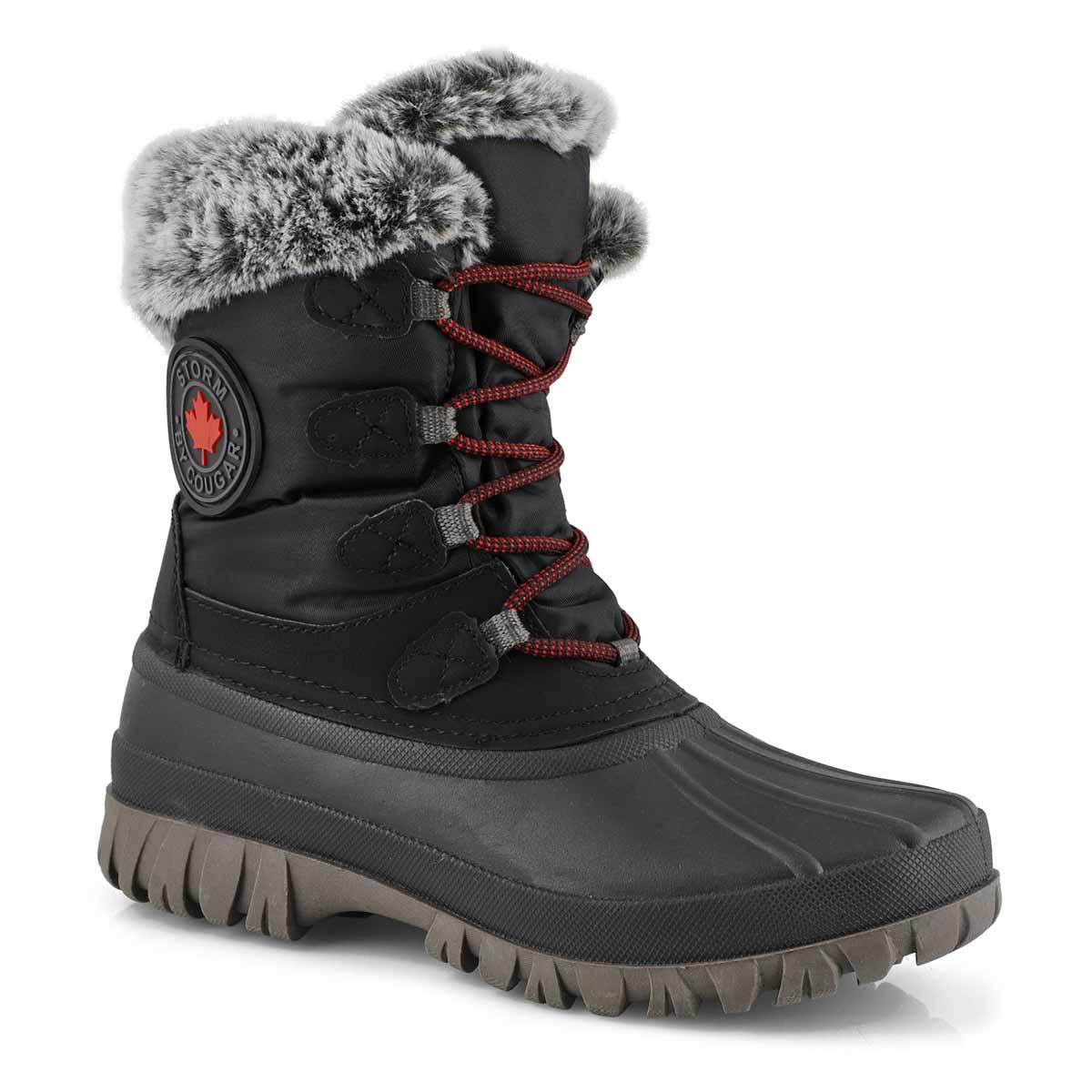 Lds Cabot blk waterproof winter boot