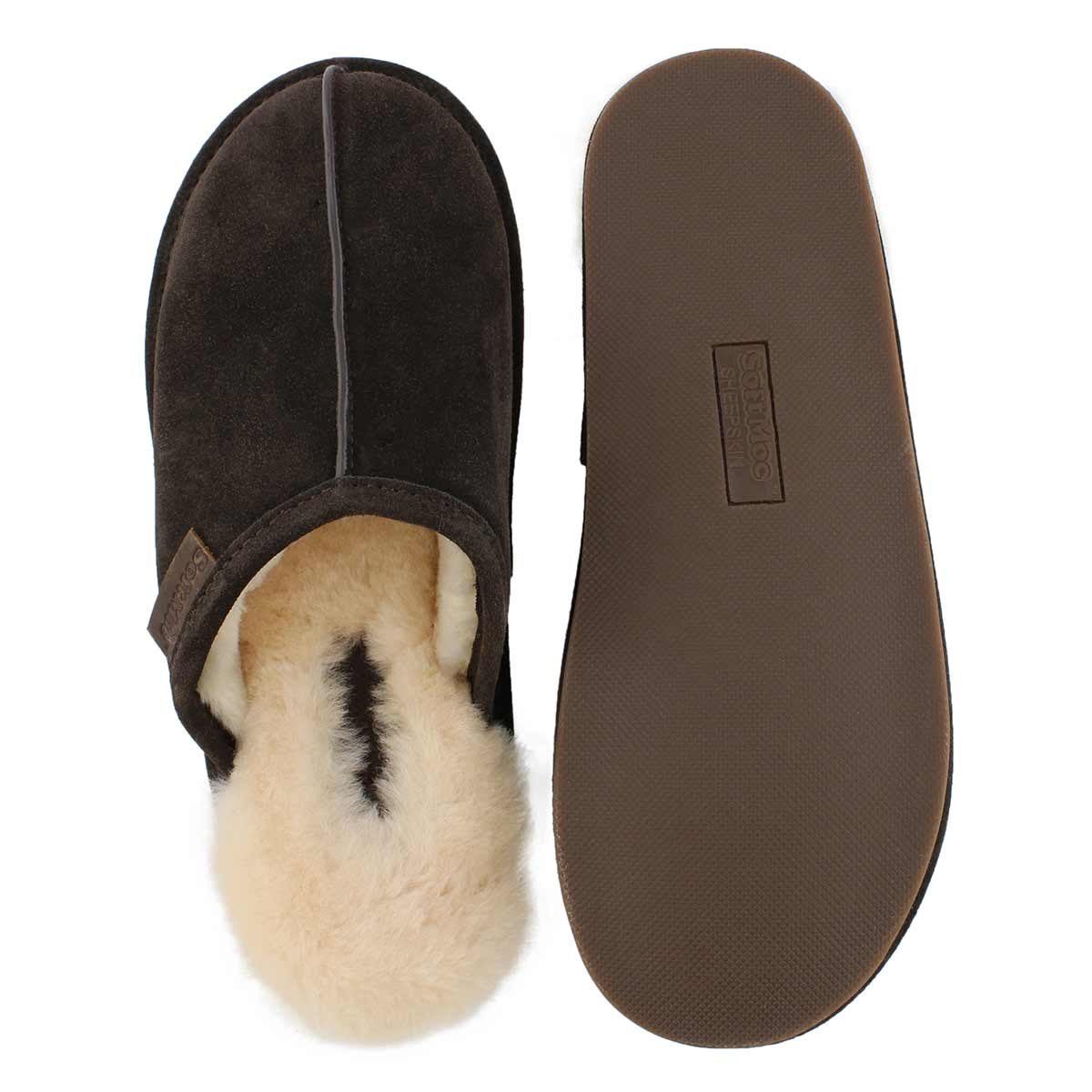 Mns Cadel brown open back slipper