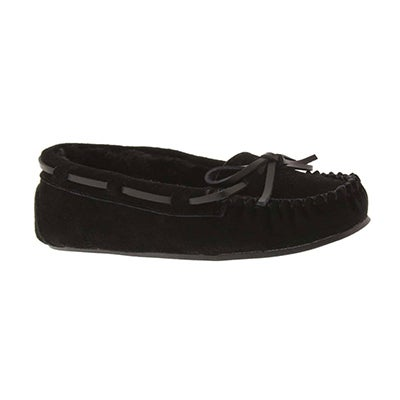 SoftMoc Girls' CADY 2 black ballerina moccasins