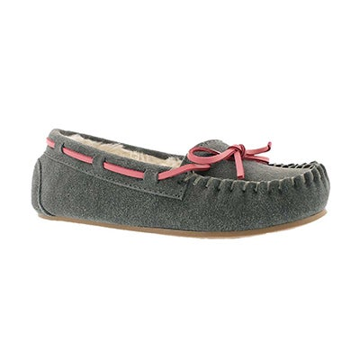 SoftMoc Girls' CADY 2 grey ballerina moccasins