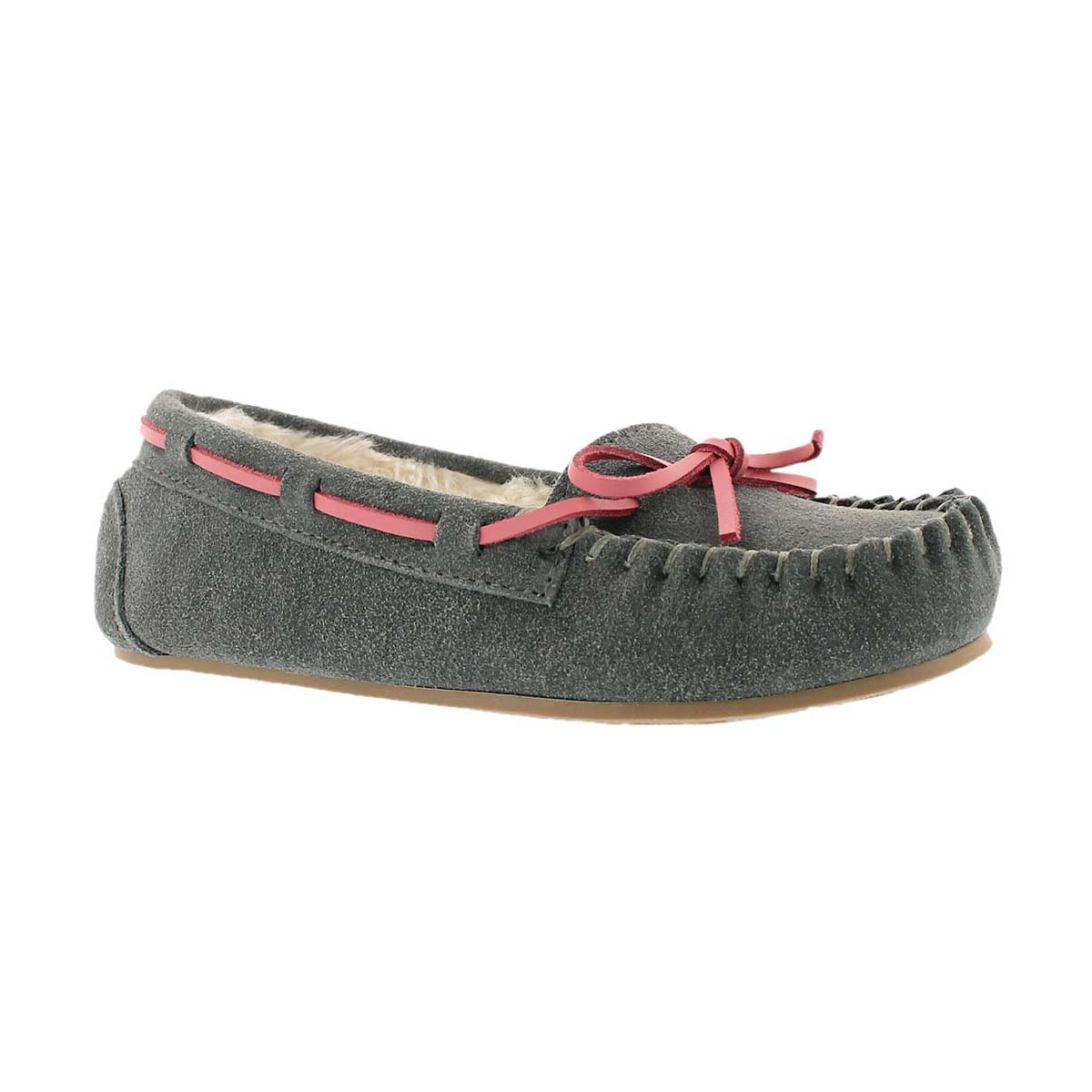 Girls' CADY 2 grey ballerina moccasins