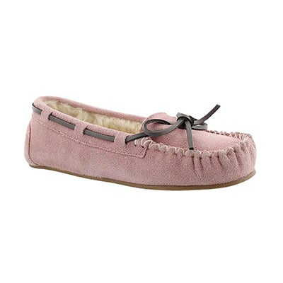SoftMoc Girls' CADY2 pink ballerina moccasins
