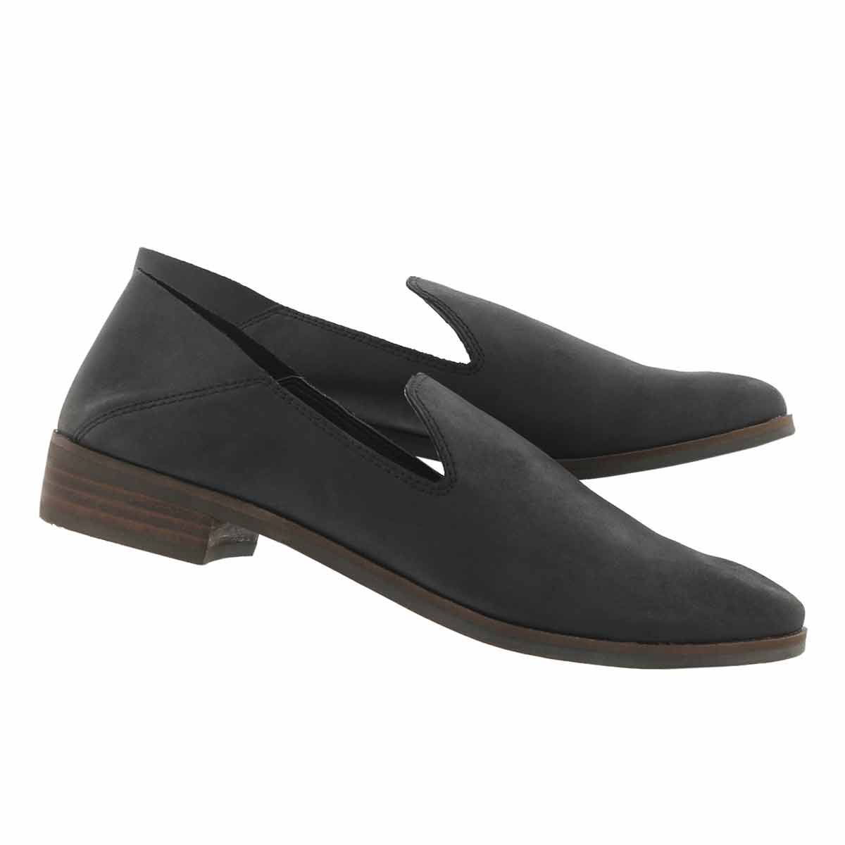 Lds Cahill black casual slip on shoe