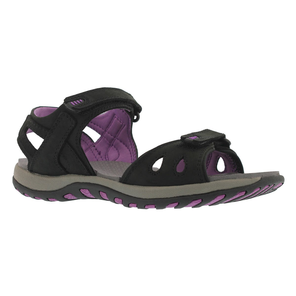 Women's CALEY 2 blk/lvndr 2 strap sport sandals