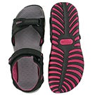 Lds Caley 2 black 3 strap sport sandal