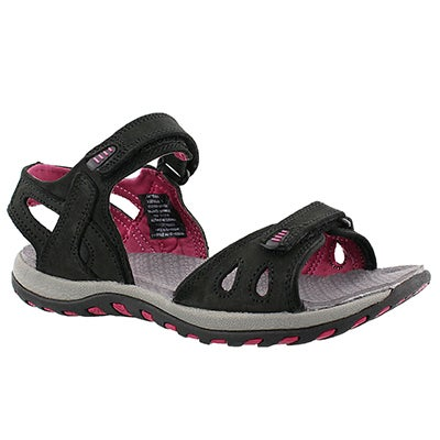 SoftMoc Women's CALEY 2 black 2 strap sport sandals