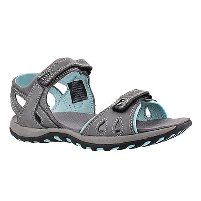 SoftMoc Women's CALEY 2 grey 2 strap sport sandals