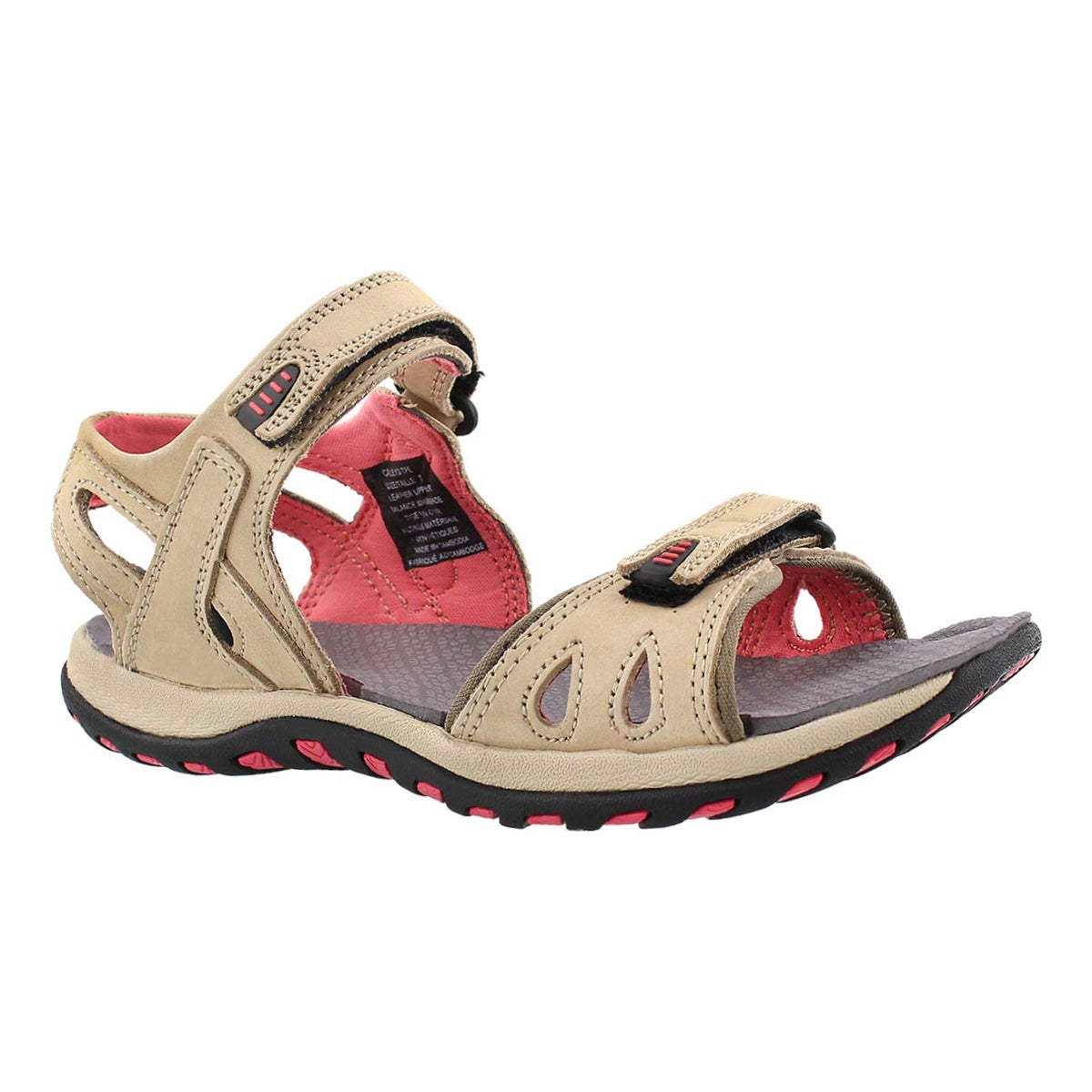 Lds Caley 2 taupe 3 strap sport sandal