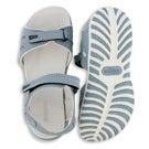 Women's CALEY 3 blue 3 strap sport sandal