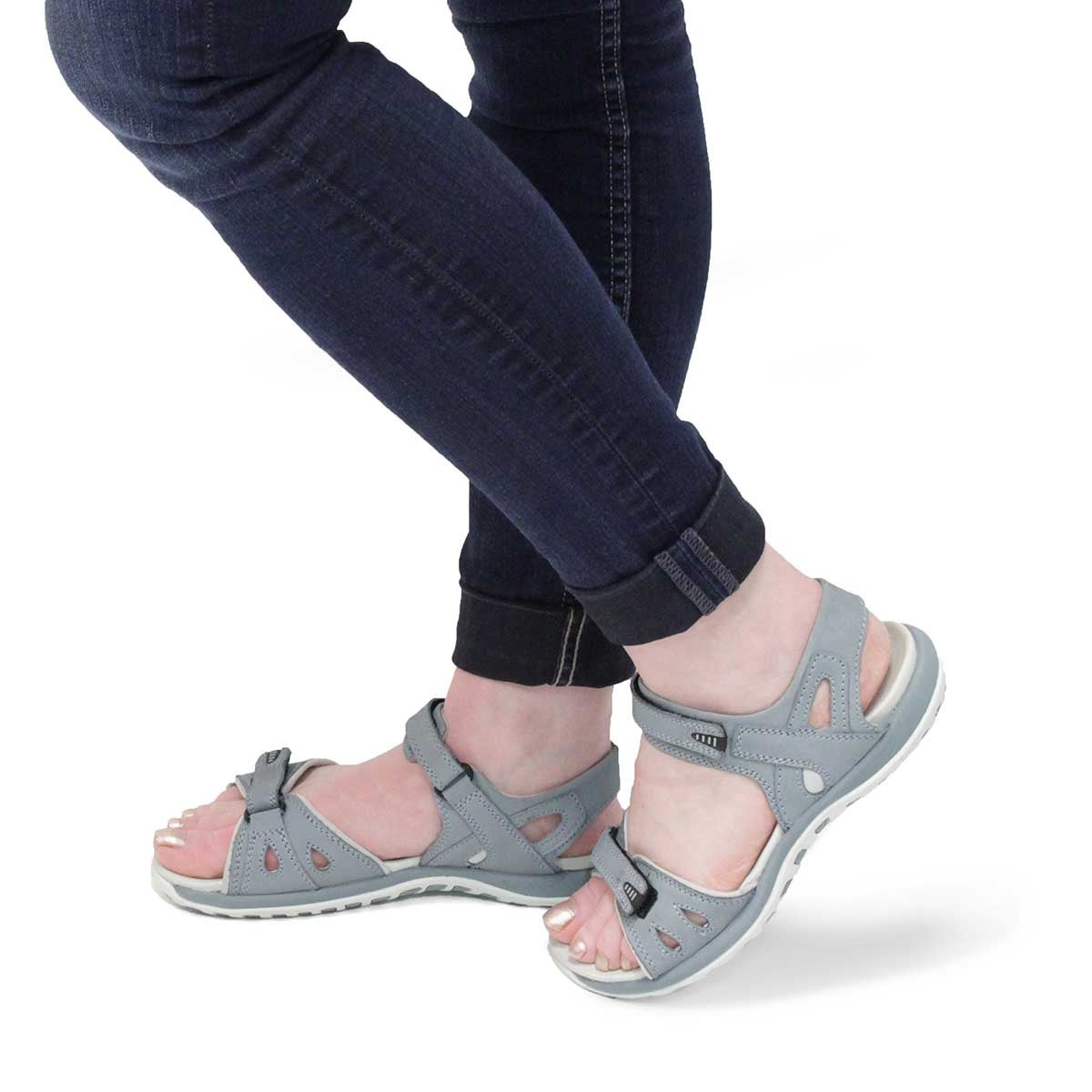 Lds Caley 3 blue 3 strap sport sandal