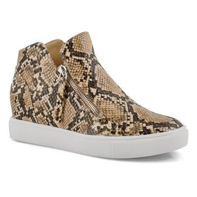Lds Caliber natural hidden wedge sneaker
