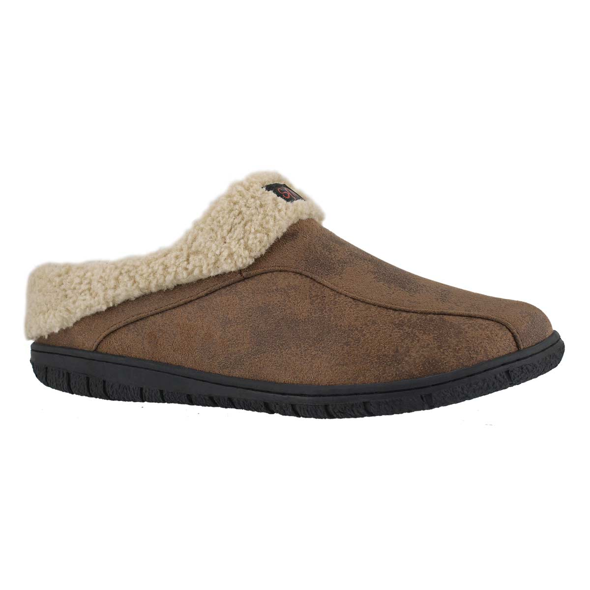Mns Cameron brown open back slipper