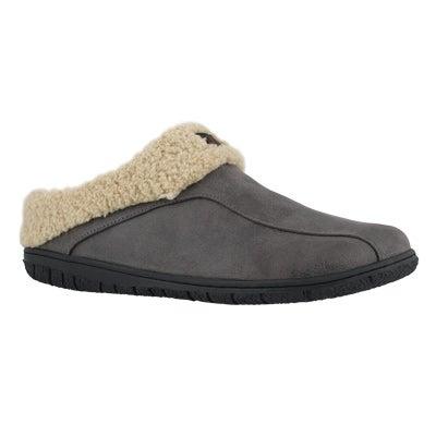 Mns Cameron grey open back slipper