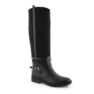 Lds Camila blk vegan wtpf knee high boot