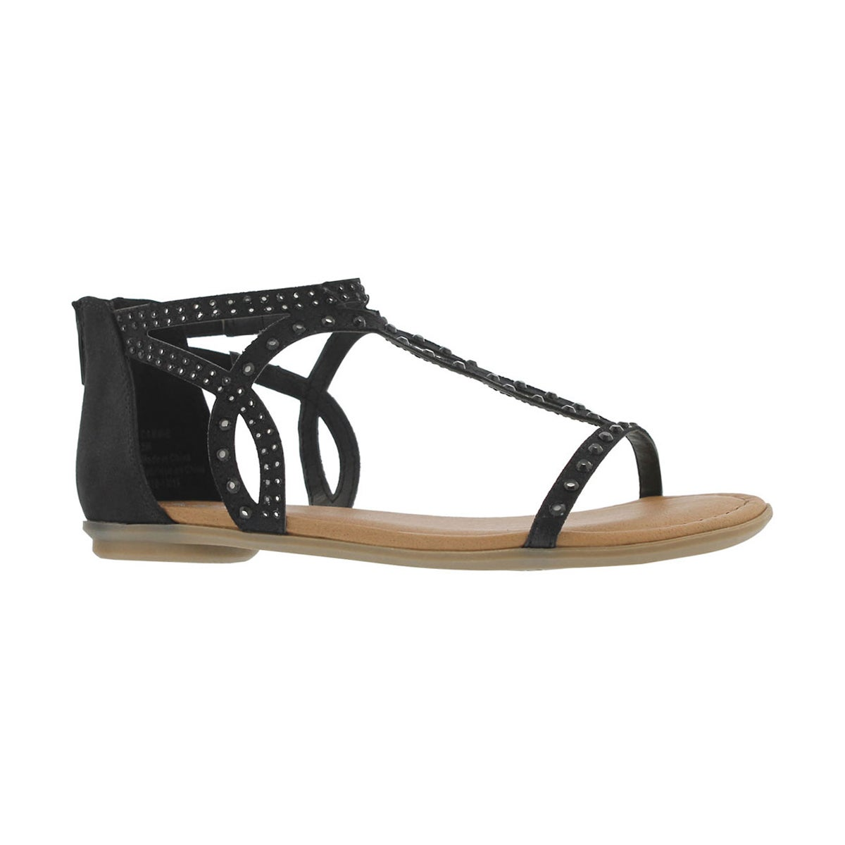 Girls' CAMMIE black dress sandals