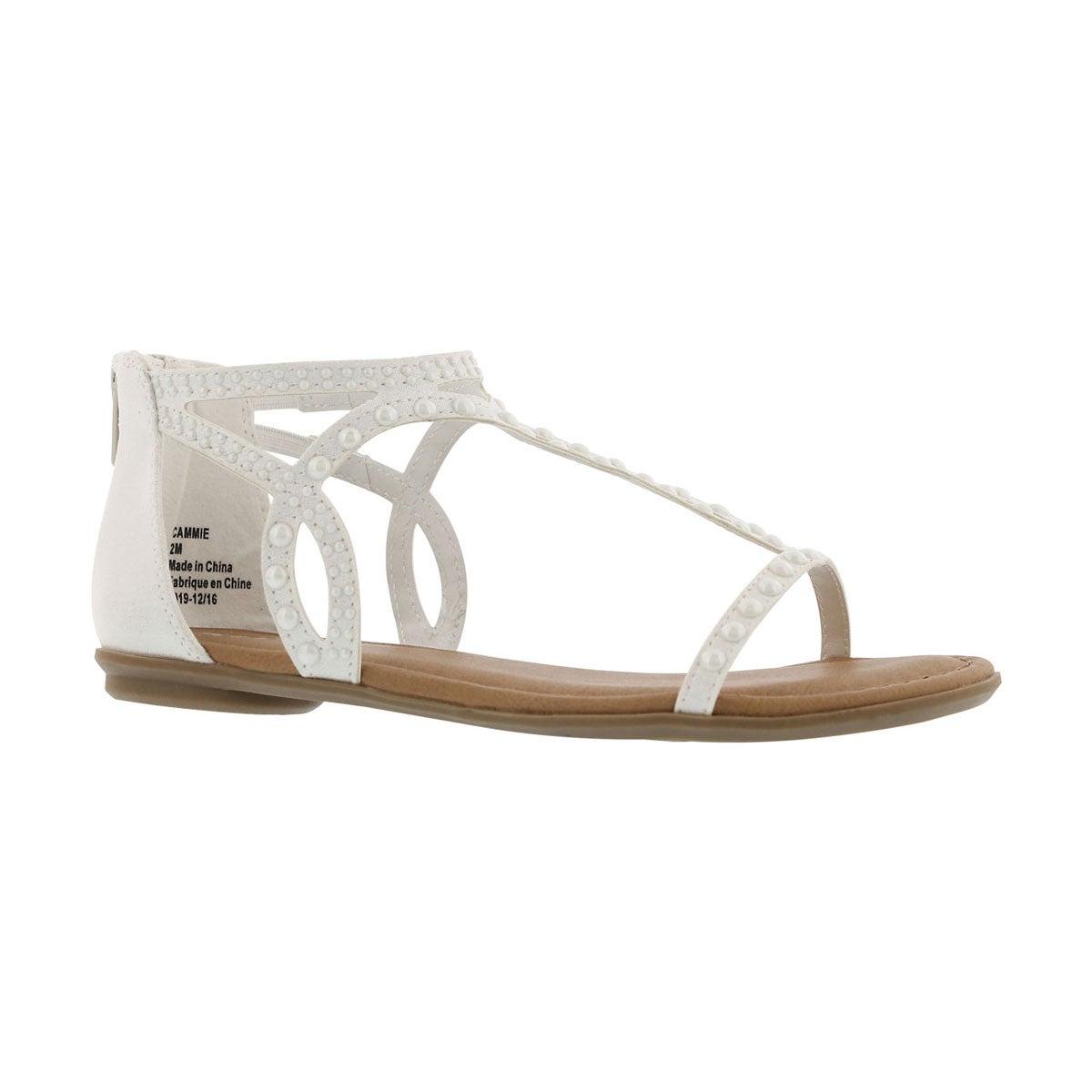 Girls' CAMMIE white dress sandals