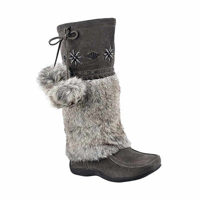 SoftMoc Mukluks en faux lapinCANDY2 JR, gris, filles