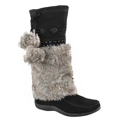 SoftMoc Women's CANDY 4 black suede mukluks