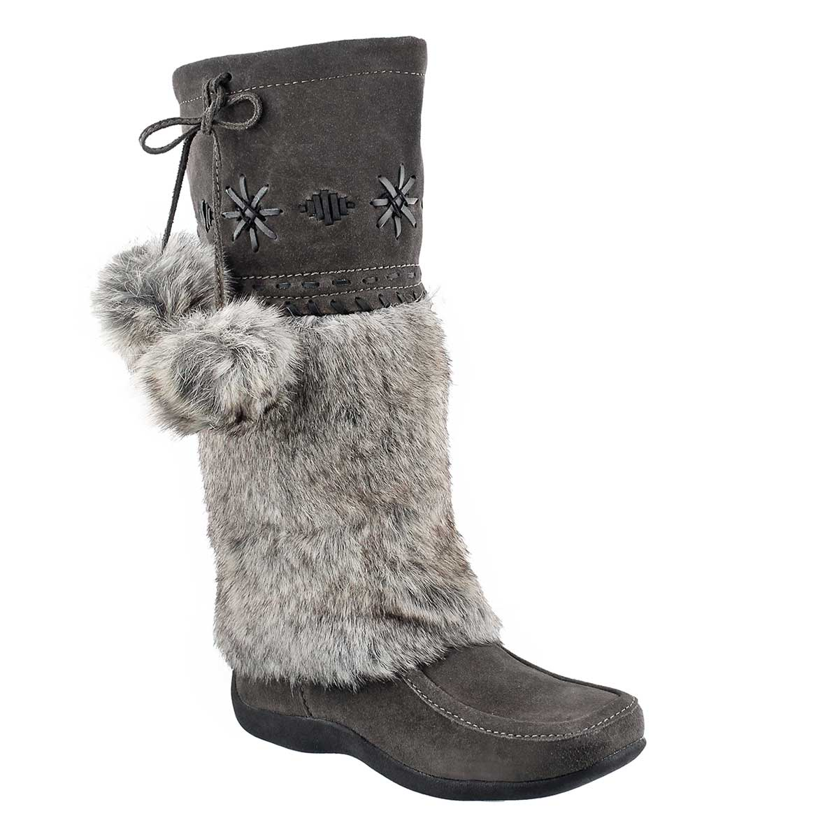 Women's CANDY 4 grey suede mukluks