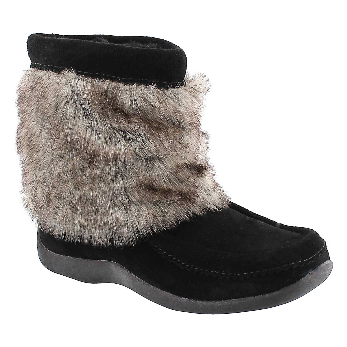 Women's CANDY LO black suede mukluks