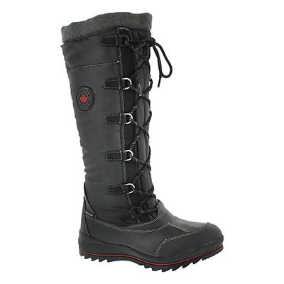 Cougar Women's CANUCK blk waterproof pull on winter boots